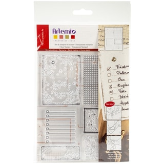 """Artemio Clear Stamps 5.9""""X8.7""""-Old Paper"""