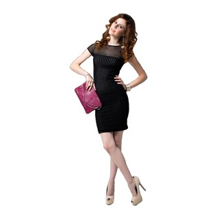 Sara Boo Women's Short-sleeve Bodycon Dress