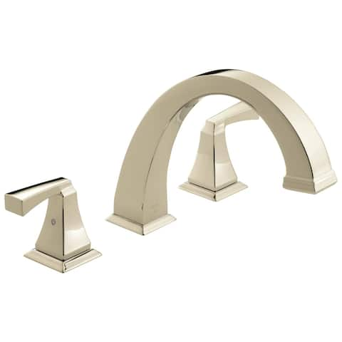 Delta Dryden Deck Mounted Roman Tub Faucet Trim Polished Nickel