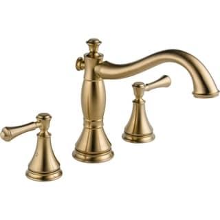 Delta Champagne Bronze Cassidy 3 Hole Roman Tub Trim