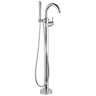 Delta Chrome Trinsic Floor Mount Tub Filler