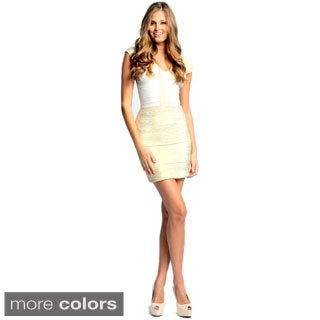 Sara Boo Women's Foil Bandage Dress