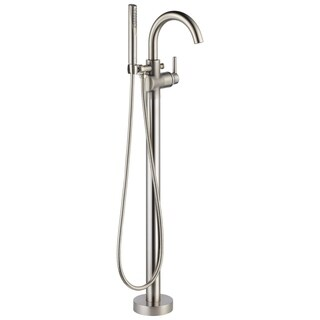 Delta Brilliance Stainless Trinsic Floor Mount Tub Filler