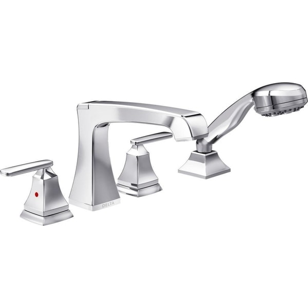 Delta Ashlyn Roman Tub Faucet with Multi-Function Hand Shower Chrome