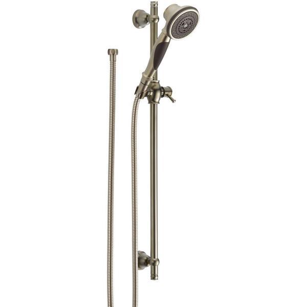 Delta Premium 3 Setting Slide Bar Hand Shower 57021 SS Stainless