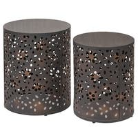 Office Star Products Antique Bronze Metal 2-piece Round Accent Table Set