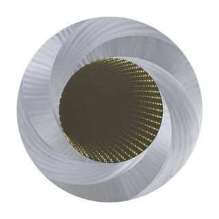Vortex Infinity Wall Mirror - Silver