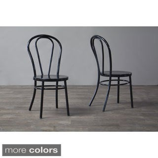 Surprising Baxton Studio Saxony Industrial Metal Dining Chairs Set Of 2 Overstock Com Shopping The Best Deals On Dining Chairs Pabps2019 Chair Design Images Pabps2019Com