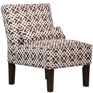 Skyline Furniture Armless Chair in Luke Chocolate
