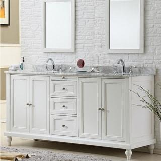 double sink vanity bathroom. vanity sink 70-inch classic pearl white double cabinet bathroom