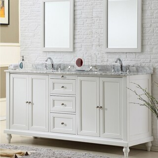 Direct. Vanity Sink 70-inch Classic Pearl White Double Vanity Sink Cabinet (More options available)