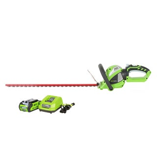 GreenWorks G-MAX 40V Li-Ion 24-inch Cordless Hedge Trimmer with 2Ah Battery and Charger
