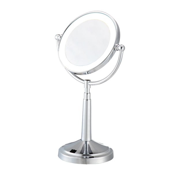 Shop Led Chrome Lighted Cosmetic Mirror Free Shipping