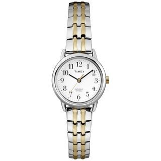 Timex Women's T2P298 Easy Reader Two-tone Expansion Band Dress Watch - silver