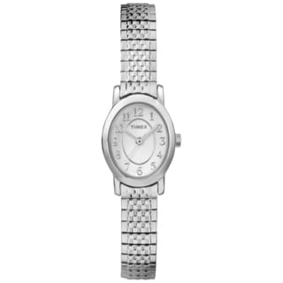 Timex TW2P601009J Women's Cavatina Silvertone Expansion Band Watch