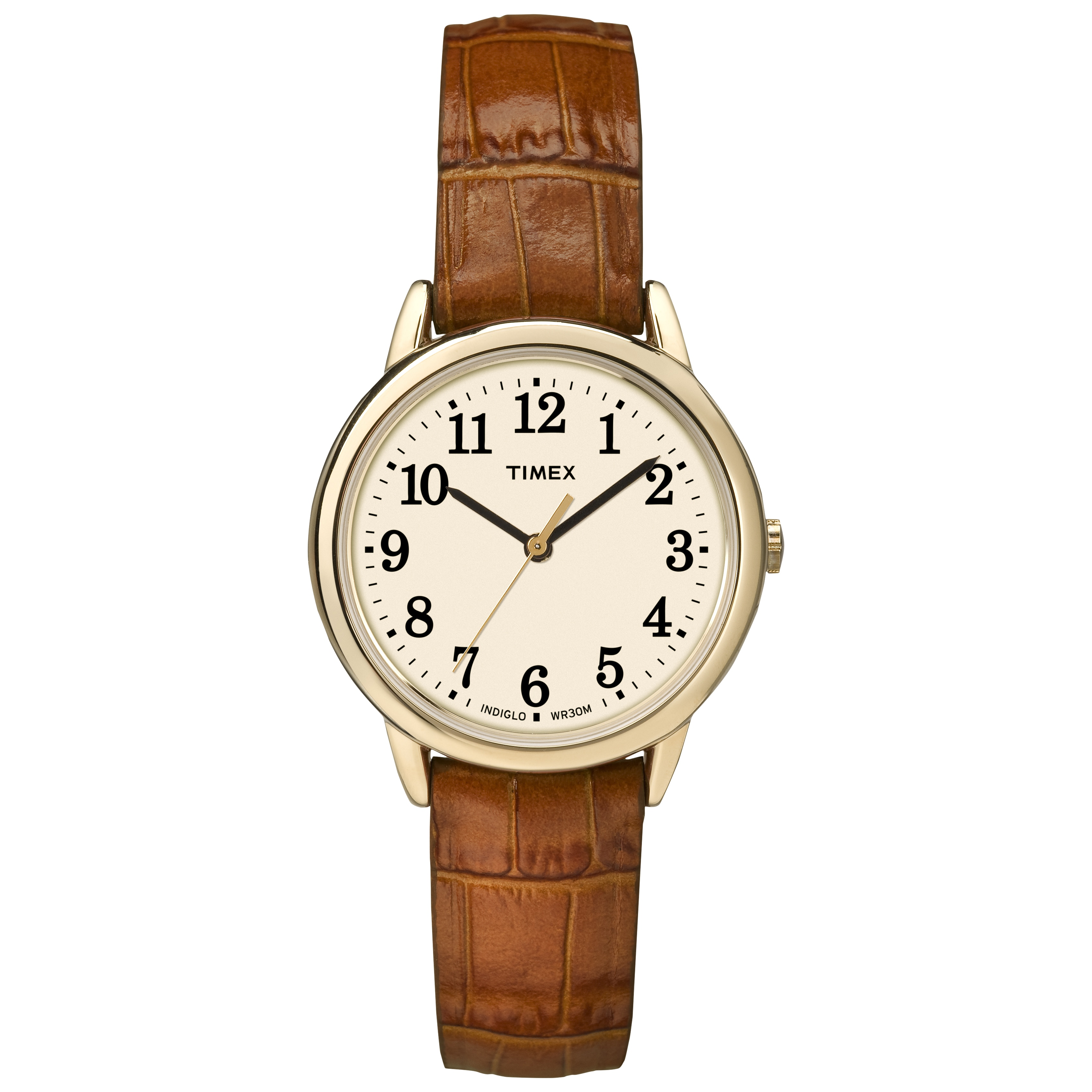 Timex TW2P688009J Women's Easy Reader Honey Brown Crocodi...