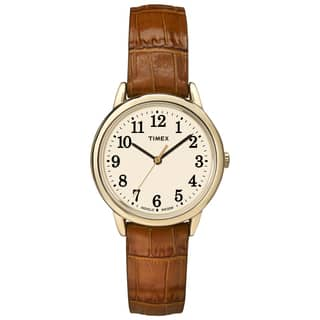 Timex TW2P688009J Women's Easy Reader Honey Brown Crocodile Leather Strap Watch|https://ak1.ostkcdn.com/images/products/9813169/P16978932.jpg?impolicy=medium