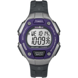 Timex TW5K895009J Women's Ironman Classic 30 Purple/Silver-Tone/Black Watch