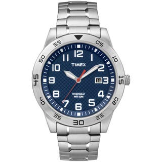 Timex Men's TW2P61500 Blue Dial Stainless Steel Expansion Band Watch|https://ak1.ostkcdn.com/images/products/9813182/P16978944.jpg?impolicy=medium