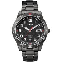 Timex Men's TW2P61600 Black IP Stainless Steel Expansion Band Watch