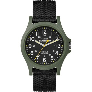 Timex Men's TW4999800 Expedition Acadia Green/ Black Black Fabric Strap Watch