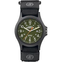 Timex Men's TW4B00100 Expedition Acadia Green/ Black Black Fast Wrap Watch