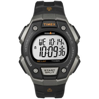 Timex Men's T5K821 Ironman Classic 30 Black/ Orange Watch