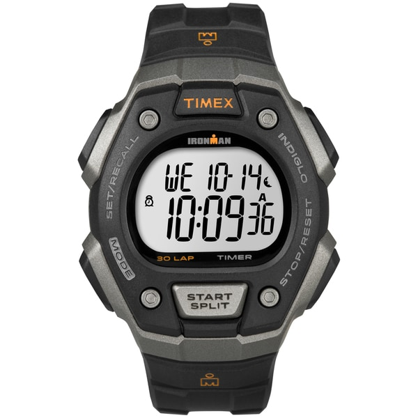 1a376bb72f87 Shop Timex Men s T5K821 Ironman Classic 30 Black  Orange Watch - Free  Shipping Today - Overstock - 9813195