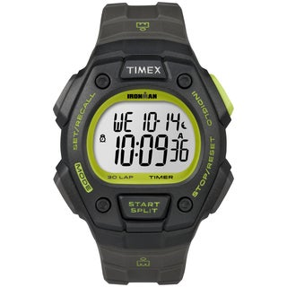 Timex Men's T5K824 Ironman Classic 30 Black/Green Watch