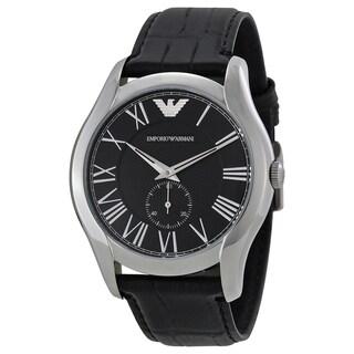 Emporio Armani Men's AR1703 'Classic'  Black Leather Watch