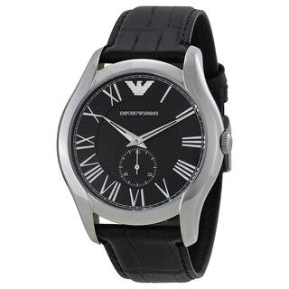 Emporio Armani Men's AR1703 'Classic' Black Leather Watch