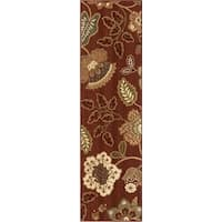 Carolina Weavers Anthology Collection Cimarron Red Area Rug (2'3 x 8')