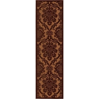 "Anthology Collection Oxford Rust Olefin Area Rug (2'3"" x 8')"