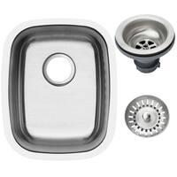 Ticor Stainless Steel Rectangular 16-gauge Undermount Single Bowl Kitchen/ Bar Sink