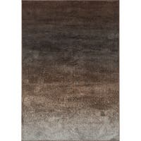 Abstract Brown/ Grey Granite Rug - 9'2 x 12'2
