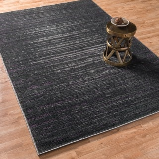 Kingsley Pewter/ Purple Rug (3'9 x 5'6)