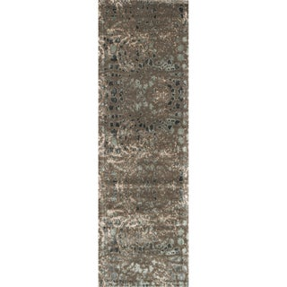 Emerson Dark Taupe/ Multi Runner Rug (2'4 x 7'9)