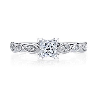 14k White Gold 3/4ct TDW Vintage Diamond Engagement Ring