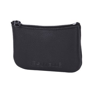 Suvelle Unisex Genuine Leather Zippered Coin Pouch