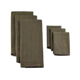 Design Imports Truffle Heavyweight Dishtowel and Dishcloth (Set of 3)