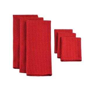 Design Imports Currant Heavyweight Dishtowel and Dishcloth (Set of 3)