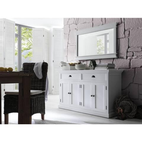NovaSolo White Mahogany Wood Classic Buffet - 57.09 x 19.69 x 33.46