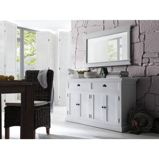 The Gray Barn Lands Deerpark White Mahogany Wood Classic Buffet