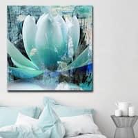 Ready2HangArt 'Painted Petals XXIV' Canvas Wall Art - TEAL
