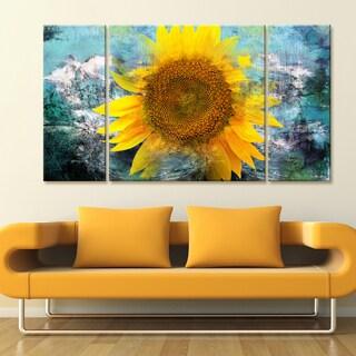 Ready2HangArt 'Painted Petals VIII' 3-piece Canvas Wall Art