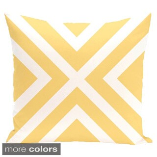 X' Stripes 16-inch Square Decorative Pillow