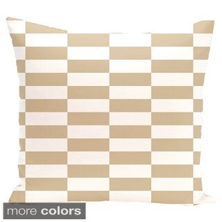 Checkered 18-inch Square Decorative Pillow