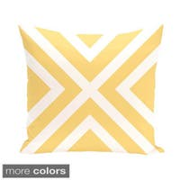 X' Stripes 18-inch Square Decorative Pillow