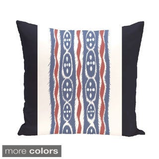 Tribal Stripes 18-inch Square Decorative Pillow