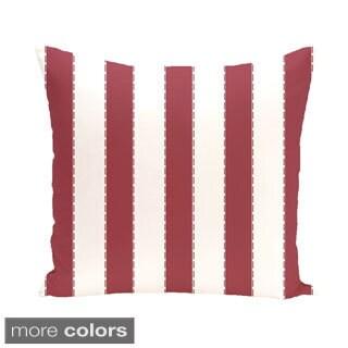 Nautical Stripes 20-inch Square Decorative Pillow